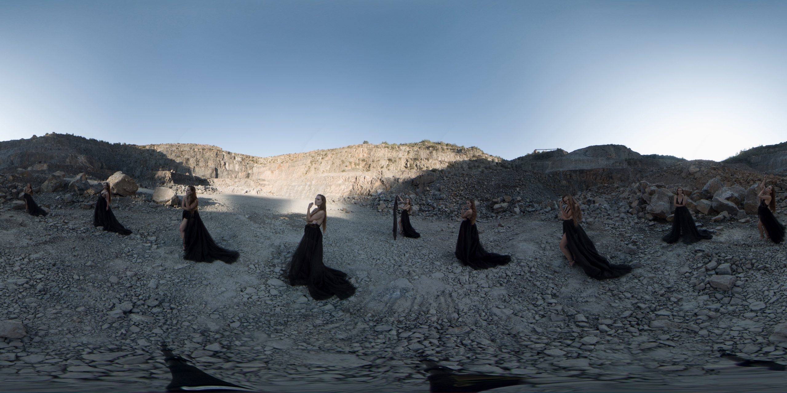 360° Model Shooting im Steinbruch